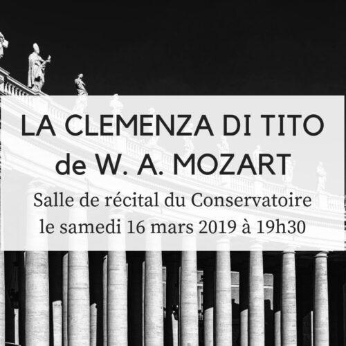 ACTUALITÉS- Compagnie baroque Mont-Royal- La Clemenza di Tito (16 mars 2019)