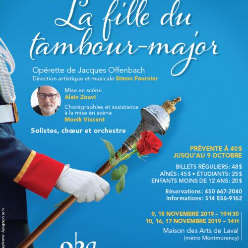 ACTUALITÉS- Évènements- Opéra Bouffe du Québec- La Fille du tambour-major de Jacques Offenbach