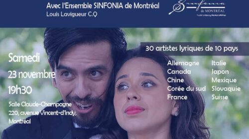 Le XXVIe Gala des Jeunes ambassadeurs lyriques, des oeuvres vocales au Festival Bach de Montréal et une fin pour la tournée américaine de l'OM avec Joyce DiDonato