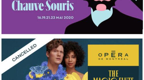 L'annulation des deux dernières productions de l'Opéra de Montréal et de l'Opéra de Québec, le report de la Journée d'étude de l'OQAL sur les mises en scène d'opéra… et de l'opéra en provenance d'Aix-en-Provenceé...