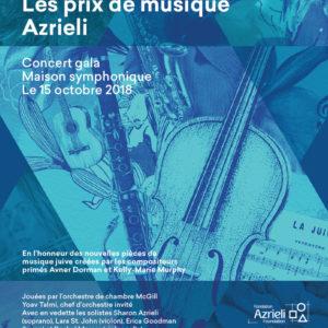 Le concert Gala des prix de musique Azrieli, un récital d'Allyson McHardy à la Société d'art vocal de Montréal, un 10e anniversaire pour Quartom et un hommage en musique à la grande mécène lyrique Jacqueline Desmarais