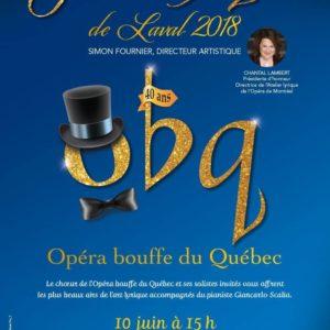 Le Gala lyrique de Laval de 2018, le deuxième Récital-concours de la mélodie française du Festival Classica et les lauréats et lauréates du volet Chant 2018 du Concours musical international de Montréal