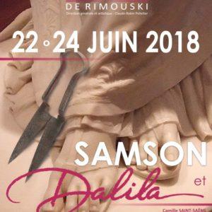 Samson et Dalila à l'Opéra de Rimouski, Acis and Galatea au Festival Montréal baroque, la sortie prochaine du numéro 16 (Été 2018) de L'Opéra- Revue québécoise d'art lyrique... et une pause estivale pour le blogueur lyrique !